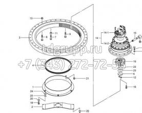 Редуктор поворота Kato HD1430-3 619-87300013