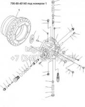 Корпус гидромотора Komatsu PC450-6 706-88-40140