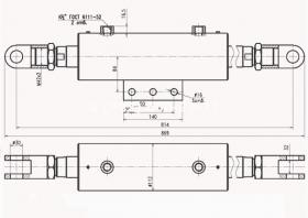 ДЗ-122А.03.25.000 Гидроцилиндр наклона колёс ДЗ-122