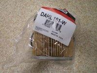 Фильтр топливный DAHL 151-W