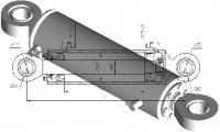 Гидроцилиндр подъема рыхлителя 160х80х450 Б-10, Б-12, Т-170