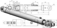 Гидроцилиндр ГЦ-80.56х620.18 (120). Гидроцилиндр стрелы погрузчи